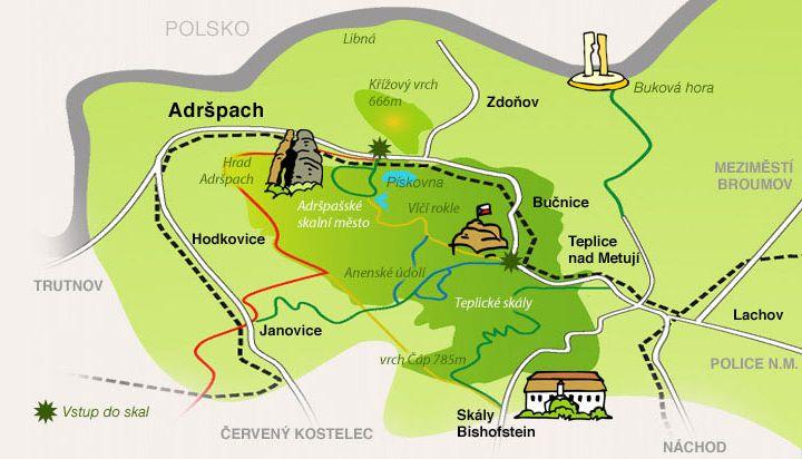 Skały Adrszpasko-Cieplickie - Czechy - Wirtualny przewodnik turystyczny -  navtur.pl